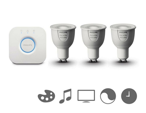 Умные лампы Philips Hue GU10 Starter Kit